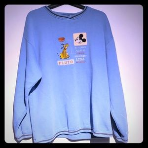 Vintage Mickey Mouse And Pluto Sweater '90s